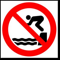 """Знак """"Запрещается прыгать с..."""