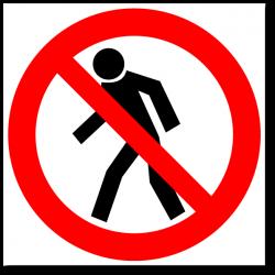 "Знак ""Проход запрещен"""