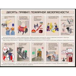 """Плакат """"Десять правил..."""
