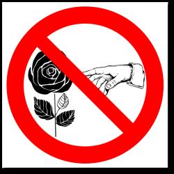 """Знак """"Цветы руками не трогать"""""""