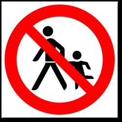 """Знак """"Запрещен проход с..."""
