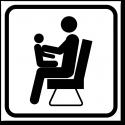 Направление к эвакуационному выходу направо вверх фотолюм