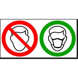 """Знак """"Вход без масок запрещен"""""""