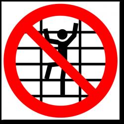"""Знак """"Запрещается лазить по..."""