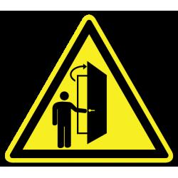 """Знак """"Внимание, дверь..."""