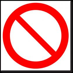 """Знак """"Запрещение (прочие..."""