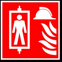 """Знак """"Лифт для пожарных..."""
