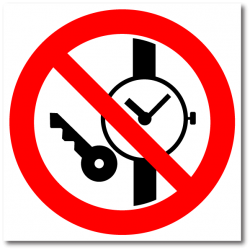 """Знак """"Запрещается иметь при..."""