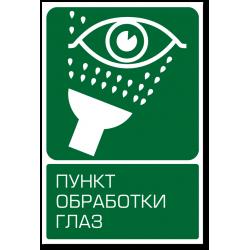 """Знак """"Пункт обработки глаз"""""""