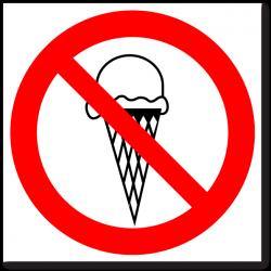 """Знак """"Вход с мороженым..."""