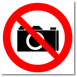 """Знак """"Фото и видеосъемка..."""