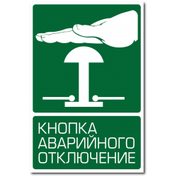 "Знак ""Кнопка аварийного..."