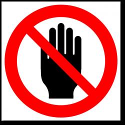 """Знак """"Не трогай руками"""""""