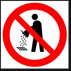 """Знак """"Запрещается сливать в..."""